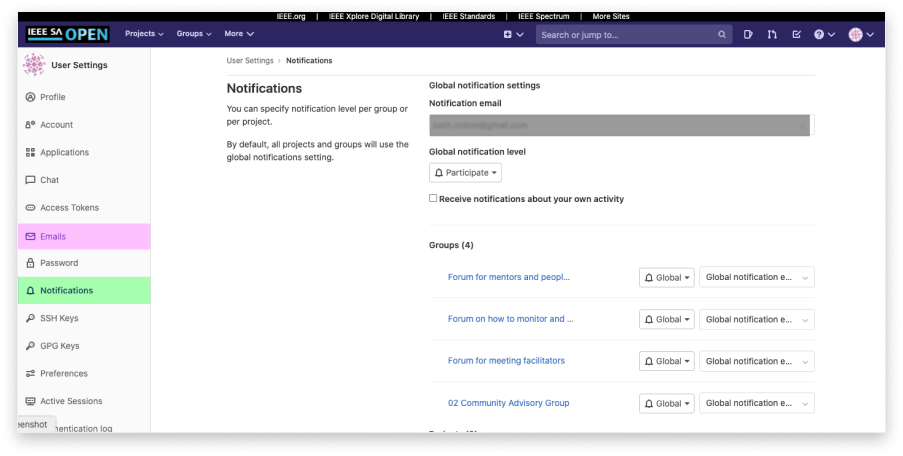 gitlab notifications 2
